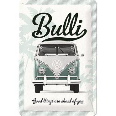 VW Bulli Good Things... 50er retro Blechschild