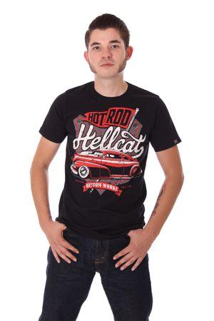 KUSTOM WORKS vintage car T-Shirt v. Hotrod Hellcat – Bild 2