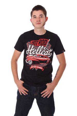 KUSTOM WORKS vintage car T-Shirt v. Hotrod Hellcat – Bild 1