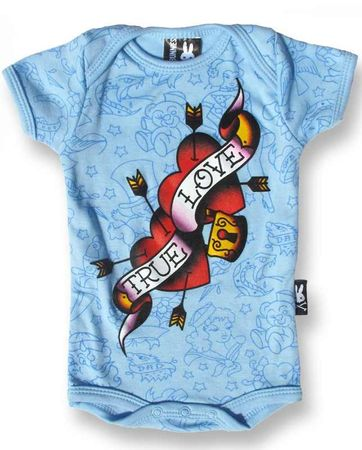 TRUE LOVE HEART FLASH Baby Strampler – Bild 2