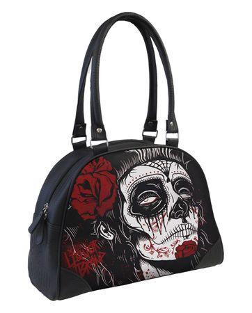 Dead Girl Bowling Tattoo Handtasche v. Liquor Brand