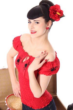 Noellin Gypsy Carmen 40er retro Blusenshirt v. SugarShock – Bild 21