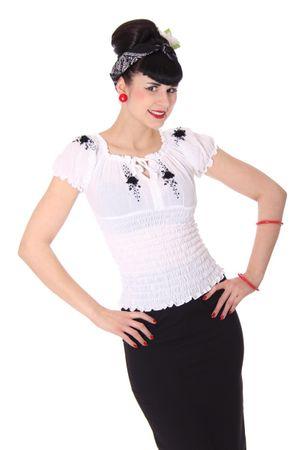Noellin Gypsy Carmen 40er retro Blusenshirt v. SugarShock – Bild 3