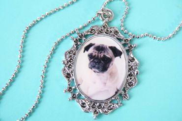 Mops Pug Rockabilly  Halskette – Bild 2