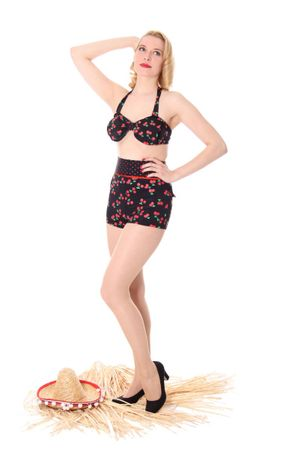 TRIXIE Cherry Kirschen Polka Dots Pin Up 50er retro Bikini
