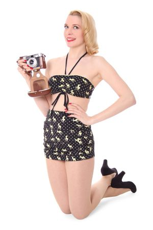 VALERIA Rehkitz Deer Polka Dots Pin Up 50er retro Bikini – Bild 4