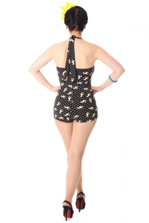 TESSA 50er retro Rehkitz Deer Polka Dots PIN UP Badeanzug – Bild 5