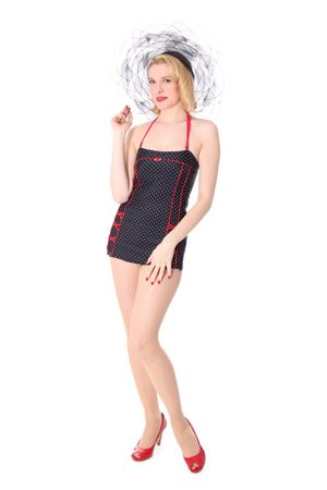 LOTTA 50er retro Polka Dots Bandeau PIN UP Badeanzug – Bild 2