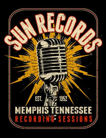 Sun Records Electric Mic retro T-Shirt – Bild 3