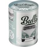 VW Bulli Good things are ahead of you retro Blech Spardose 001