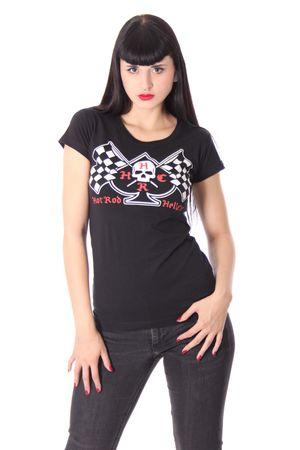 SPADE Girlie Racing Flag Shirt v. Hotrod Hellcat