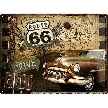 Route 66 Road Trip 50er retro Blechschild