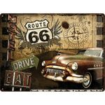 Route 66 Road Trip 50er retro Blechschild 001