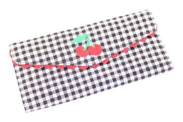 Gingham Kirschen Cherry Rüschen 50er retro Geldbörse groß v. SugarShock – Bild 2
