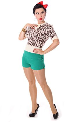Francesca 50s retro Rockabilly Leoparden Jumper Strick Shirt v. SugarShock – Bild 8