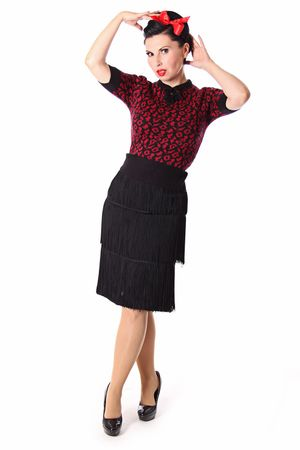 Francesca 50s retro Rockabilly Leoparden Jumper Strick Shirt v. SugarShock – Bild 3