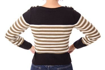30er 40er retro Letty Streifen Uniform Pullover Jumper Strickshirt v. SugarShock – Bild 11