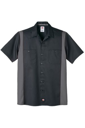 Dickies Two Tone Panel retro Workshirt Hemd – Bild 2