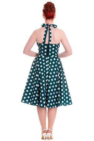 MERIAM 50s retro Polka Dots Neckholder Swing Kleid v. Hell Bunny – Bild 2
