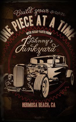 Johnny´s Junkyard Hot Rod Poster v. Rumble59