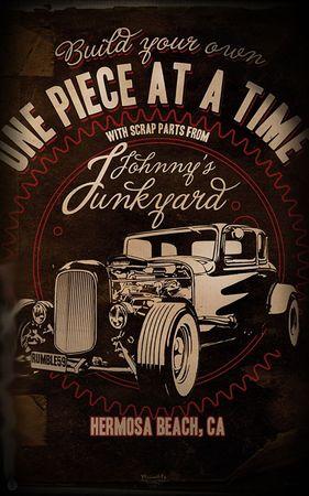 Johnny´s Junkyard Hot Rod Poster v. Rumble59