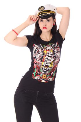 Siren Sea Pin Up Girlie oldschool Tattoo T-Shirt v. Liquor Brand