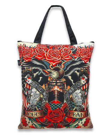 Hail Mary oldschool Tattoo Canvas Tote Bag Trage Tasche v. Liquor Brand