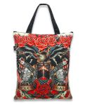 Hail Mary oldschool Tattoo Canvas Tote Bag Trage Tasche v. Liquor Brand 001