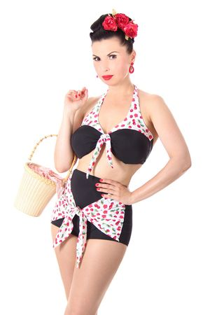 Lia Kirschen Pin Up 50er retro Cherry Neckholder Bikini v. SugarShock