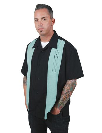 The Shake Down Button Up Panel Lounge Hemd v. Rock Steady Clothing