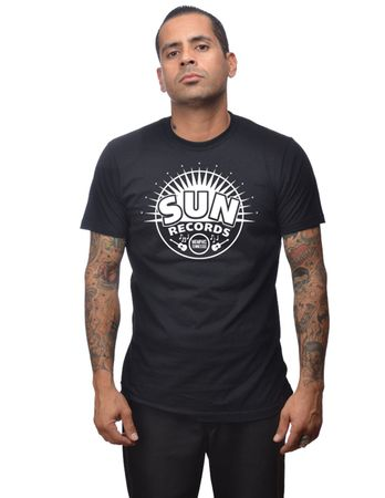 Sunburst Sun Records Männer Logo retro T-Shirt