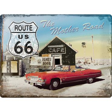 Route 66 The Mother Road 50er retro Blechschild