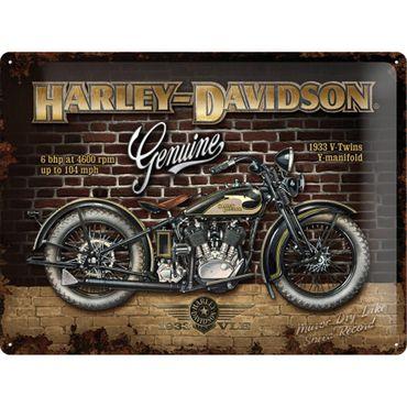 Harley-Davidson Brick Wall 50er retro Blechschild