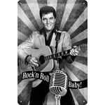 Elvis - Rock´n Roll Baby 50er retro Blechschild