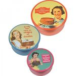 Cake Tins 3 Pack - Make Cocolate Cake retro Kuchen Blechdose Vorratsdose
