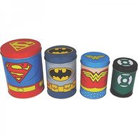 Canisters Set of 4 - Justice League retro Blechdose Vorratsdose 001
