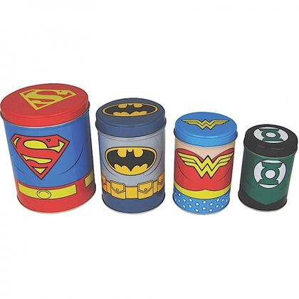Canisters Set of 4 - Justice League retro Blechdose Vorratsdose