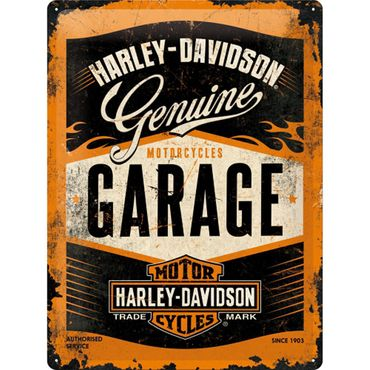 Harley - Davidson Garage 50er retro Blechschild