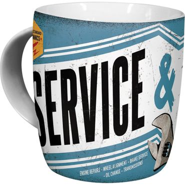 Service & Repair retro Tasse