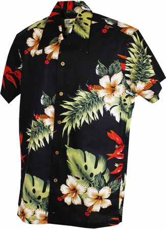 Karmakula San Blas retro Hawaii Blüten Hemd Hawaiian Flower Shirt