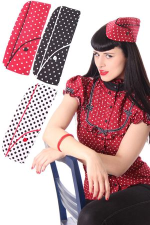 40er retro Polka Dots Military Uniform Schiffchen Hut v. SugarShock – Bild 1