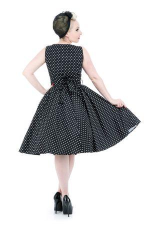 50er Jahre retro Polka Dots Petticoat Swing Kleid v. Hearts & Roses – Bild 2