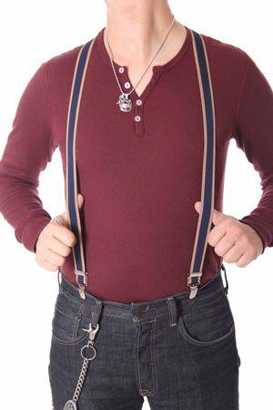 Unisex retro Braces Streifen Hosenträger Suspender mit Clips  – Bild 14