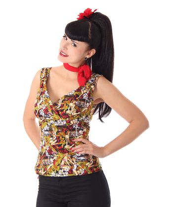 Elinor 50er retro Pin Up Hawaii Top v. SugarShock