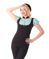 Sankana Pin Up retro Polka Dots Puffärmel Blusen Shirt v. SugarShock