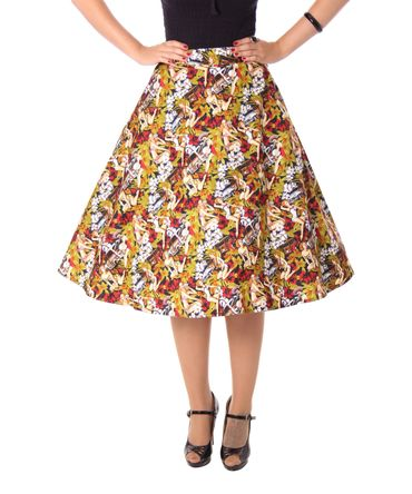 Kanaia Pin Up Hawaii Blüten Tellerrock Petticoat Rock v. SugarShock – Bild 5