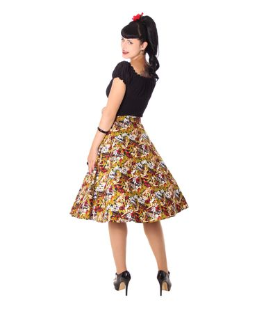 Kanaia Pin Up Hawaii Blüten Tellerrock Petticoat Rock v. SugarShock – Bild 7