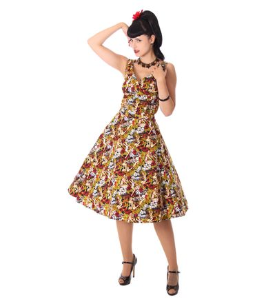 Kanaia Pin Up Hawaii Blüten Tellerrock Petticoat Rock v. SugarShock – Bild 8