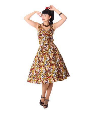 Kanaia Pin Up Hawaii Blüten Tellerrock Petticoat Rock v. SugarShock – Bild 9