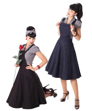 Brooklynn retro Swing Petticoat Latzrock v. SugarShock – Bild 1